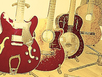 There are various types of guitar including Semi Acoustic (electric semi hollow body guitar), Steel String Acoustic, Resonator Guitar, and Spanish Classical Guitar (nylon string guitar) and many more